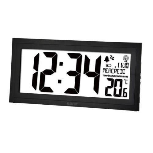 Calendrier Mural Grand Format.Horloge Pendule Murale Dcf Digitale Grand Format Calendrier Humidite Temperat