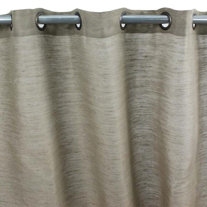 tribu rideau jute coton 150x250 taupe monbeau achat vente rideau jute coton cdiscount. Black Bedroom Furniture Sets. Home Design Ideas