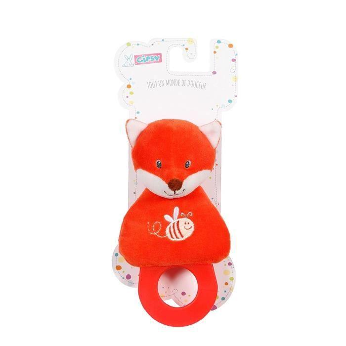 Gipsy Renard Accroche-Tétine Orange Accessoires de sac à main