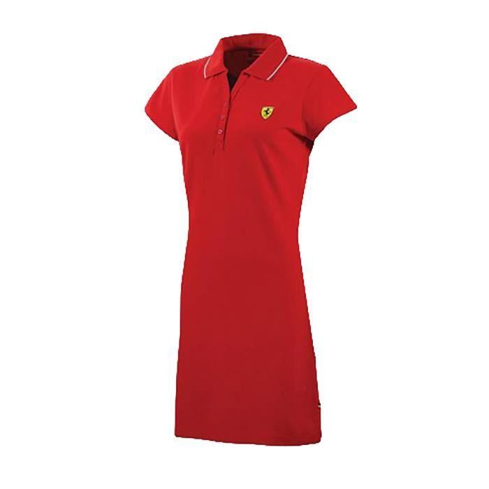 timeless design 20a09 7a991 robe-courte-d-ete-col-polo-ferrari-rouge.jpg