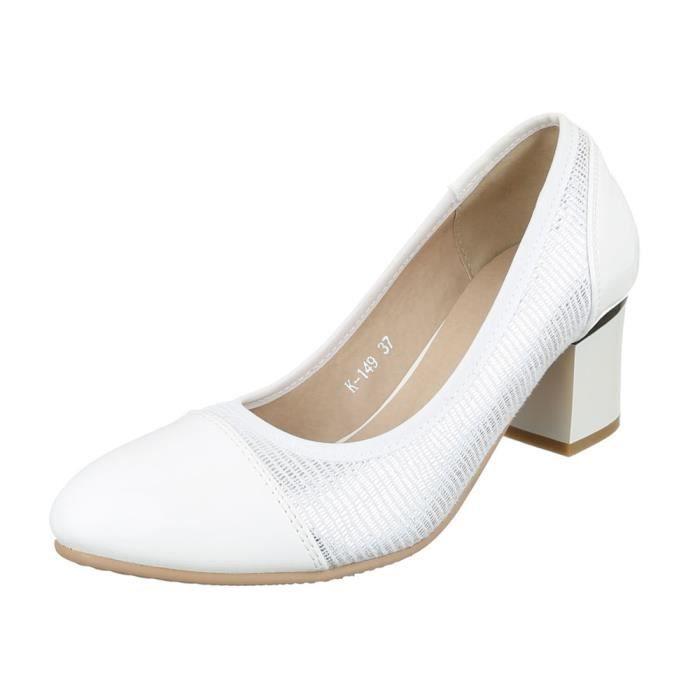femme escarpin chaussure High-Heels Mules mule sandalette laque Paillettes  argent 2e4db736ac44