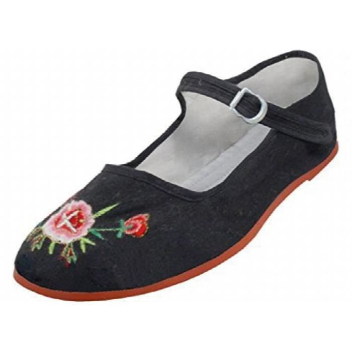 Cotton Mary Jane Ballerines Ballerines Chaussures PD0B2 Taille-39