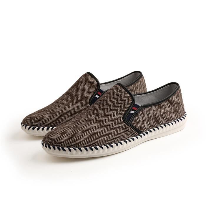 Baskets Super Couleur Luxe De Marque Poids Plus Sneakers Nouvelle Homme Léger Loisirs1 Antidérapant Chaussures Slipon RjL43A5