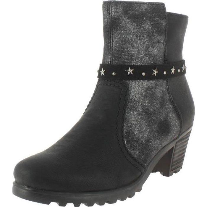 rieker Noir Bottines y8077 Noir femme boots y8077 Vente Achat SPPZwCq