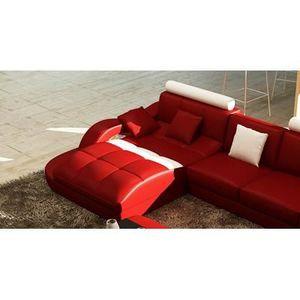 canape design rouge achat vente pas cher. Black Bedroom Furniture Sets. Home Design Ideas