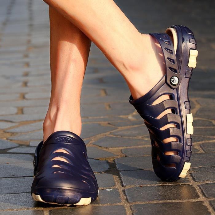 Chaussures d'été Mode respirante Plage Flat Hommes