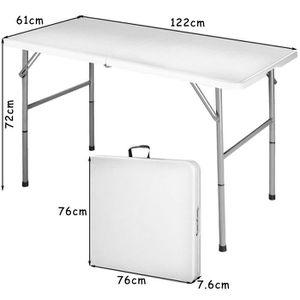 table pliante 180 cm achat vente table pliante 180 cm pas cher cdiscount. Black Bedroom Furniture Sets. Home Design Ideas