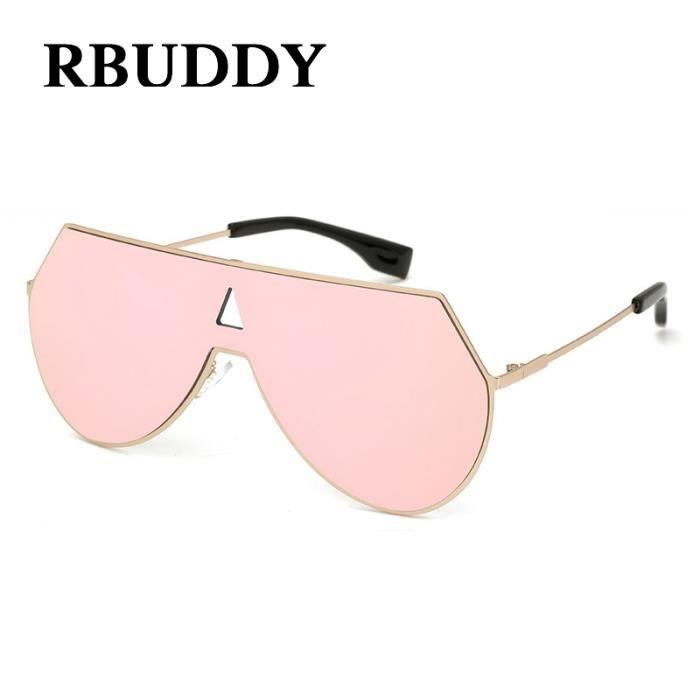 RBUDDY Homme Hommes Femmes de de soleil soleil Des Lunettes grand Flat oversize Designer Marque métal Femme lunettes Lunettes Top rRWHFrwqA