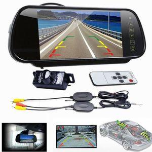 RADAR DE RECUL 7 LCD miroir moniteur voiture + sans fil inverse V