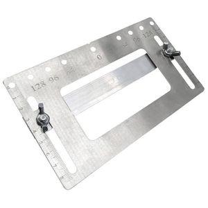EQUERRE - COMPAS Modèle de poignée d'armoire Outil de gabarit Bouto