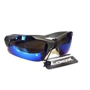 ae0db9475574 Lunette de soleil Design Sport BLEU Loox Eyewear Collection Homme - Effet  miroir -140