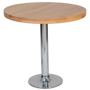 Table de cuisine ronde achat vente table de cuisine ronde pas cher cdis - Table de cuisine ronde en bois ...