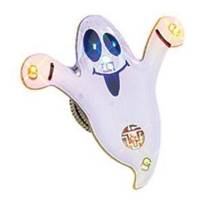 BADGES - PIN'S Pin's aimanté à LED ''Fantôme blanc''