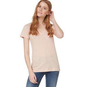 T-SHIRT T-shirt en coton flammé col V corset