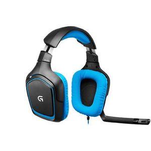 CASQUE AVEC MICROPHONE Casque Logitech G430 pour PC et PS4 Noir Et Bleu