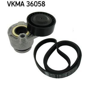 COURROIE TRAPÉZOÏDALE SKF Kit courroie d'accessoire VKMA 36058