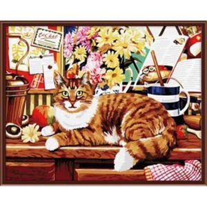 PEINTURE AU NUMÉRO YEESAM ART Peinture par numéros Kits Avec Cadre 16