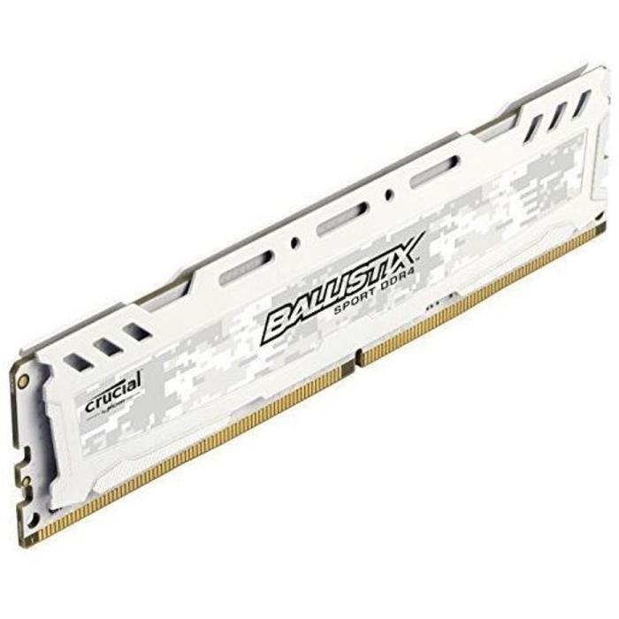 BALLISTIX SPORT LT Blanc Mémoire PC KIT - DDR4 - 8GB (4GB*2) - 2400
