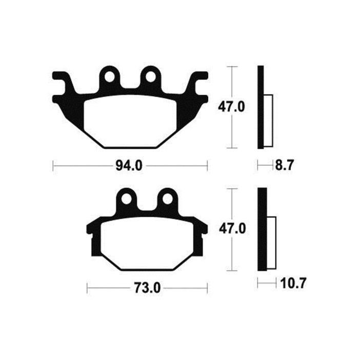 BENDIX Plaquettes de frein moto MO310 - Métal fritté