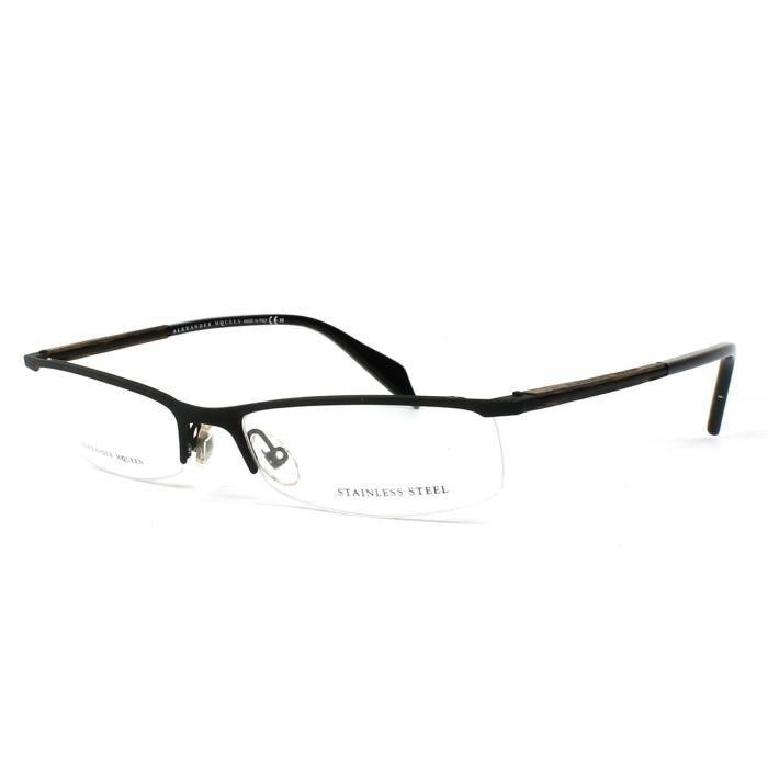 69b1eaf4dddb3e Lunettes de vue Alexander McQueen AMQ4152 -3 Noir mat Noir mat ...