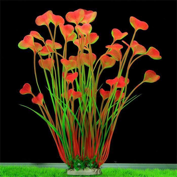 Poissons Décoration Réservoir En Plastique Aquarium Vert Herbe Plantes Eau Ornement Plante Multicolore_poi981