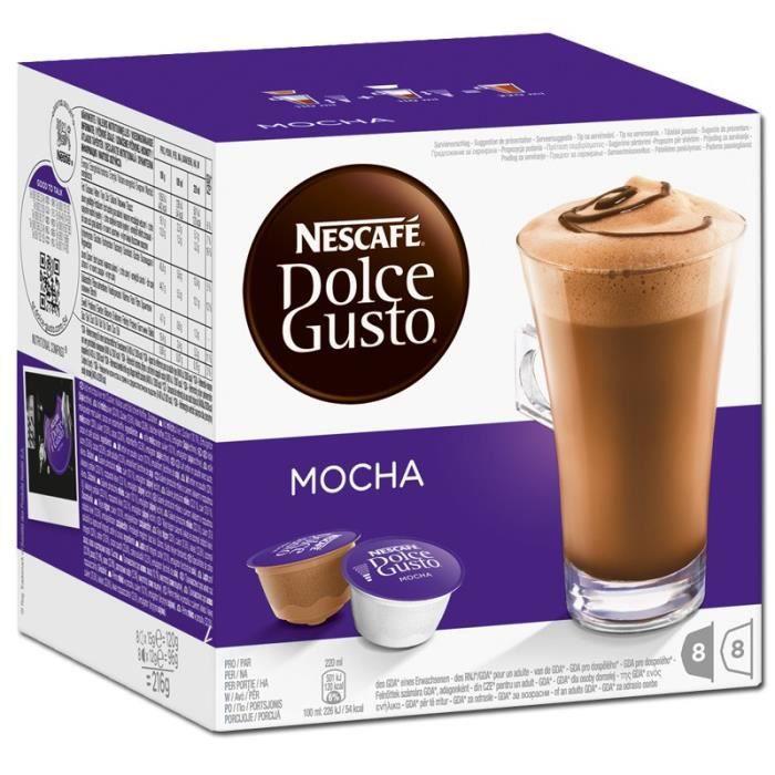 nestl dolce gusto mocha caf caf chocolat bo te de 16 capsules achat vente caf. Black Bedroom Furniture Sets. Home Design Ideas