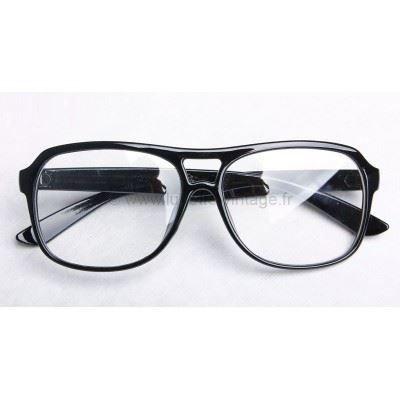 fausse lunette de vue aviator noir noir achat vente lunettes de vue fausse lunette de vue. Black Bedroom Furniture Sets. Home Design Ideas