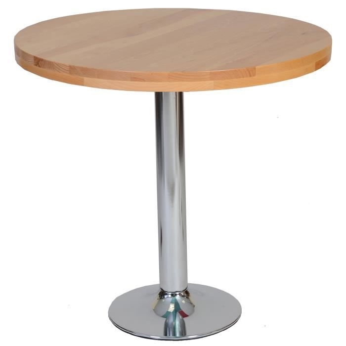 Table ronde hetre achat vente pas cher - Table ronde bistrot ...