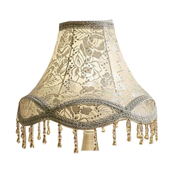 En Jour De Chevet Rose Lampe Tissu Eastlion argent 15x30x21cm Abat Table E27 Pour Y7vbgyf6