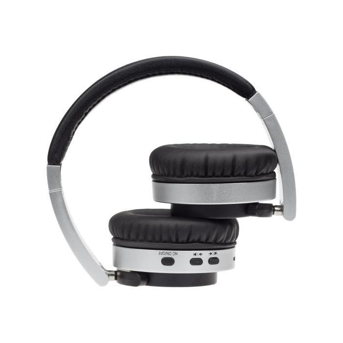 Denver Btn-206 Casque Avec Micro Pleine Taille Bluetooth Sans Fil Noir