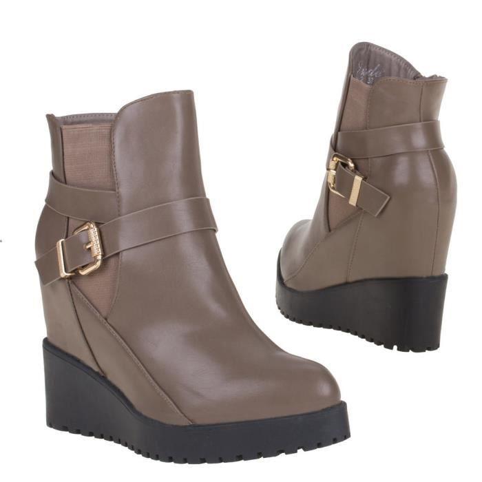 jumex bottillons boots chaussures bottines marron clair femme p37 OBFxHa