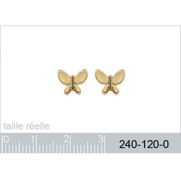 Boucles doreilles en forme de papillons plaqué or