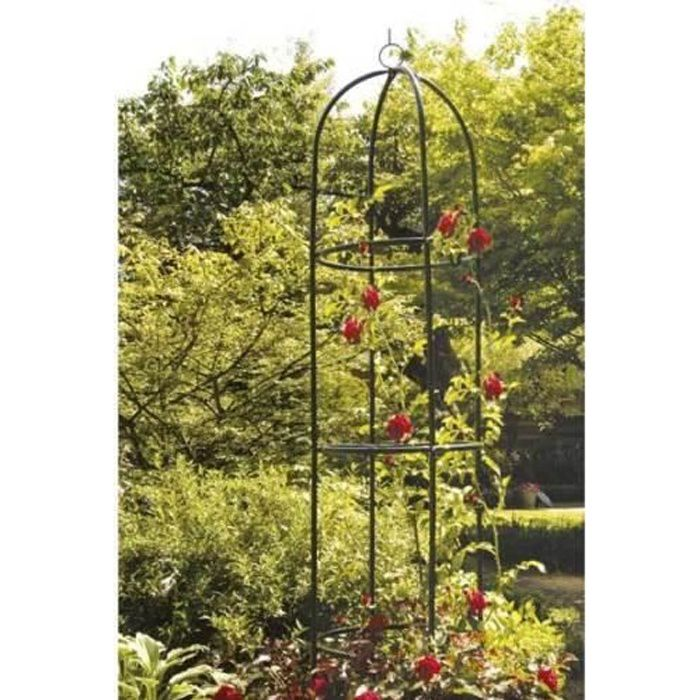 colonne tuteur de jardin en metal pour plantes grimpante rosier achat vente arche colonne. Black Bedroom Furniture Sets. Home Design Ideas