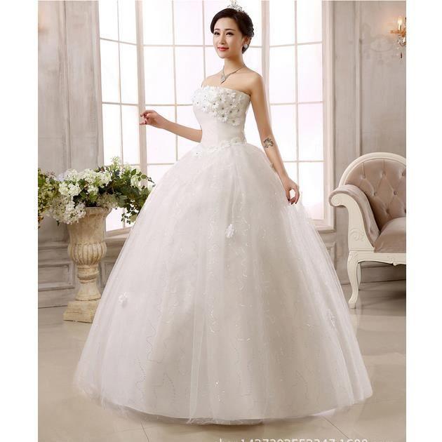 xxxl robe de mari e robe blanche robe de mariage r tro blanc blanc achat vente robe de