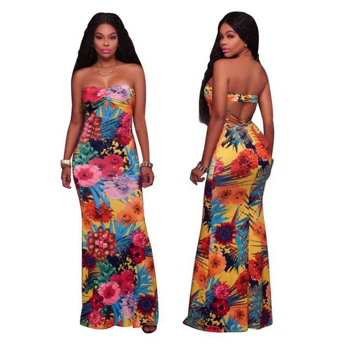 7b0c85f4b78 ... mot Coffre enroulé Vetements Confortable Grande Taille S-XL. ROBE Femme  Robes Longue Sans manches Robe Collier à un