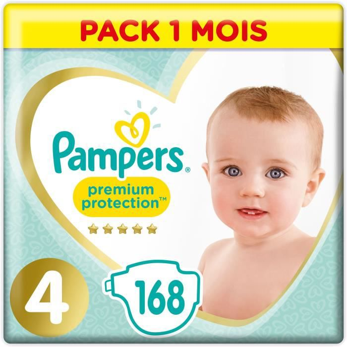 COUCHE PAMPERS Premium Protection Taille 4 8-16 kg - 168