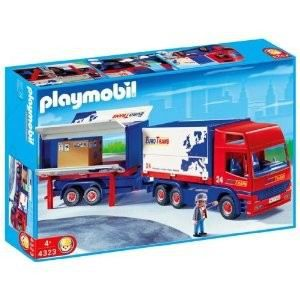 Playmobil routier camion remorque achat vente univers miniature cdiscount - Playmobil camion police ...