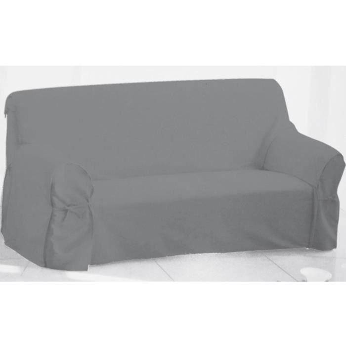 housse de canap en coton panama gris clair achat vente housse de canape soldes d s le. Black Bedroom Furniture Sets. Home Design Ideas