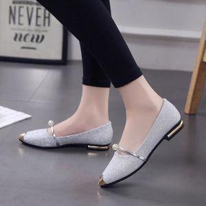 Femmes bout pointu Ladise chaussures occasionnels talon bas chaussures plates BKNoir ASD263 skzRdnm7