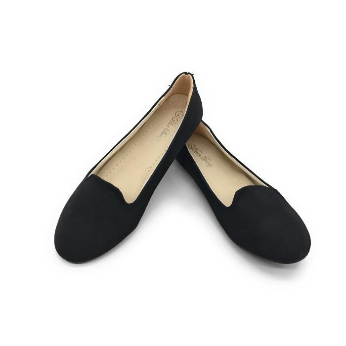 Easy21 Casual Flats Ballet Fashion Shoes Faux Leather AP5LX Taille-37
