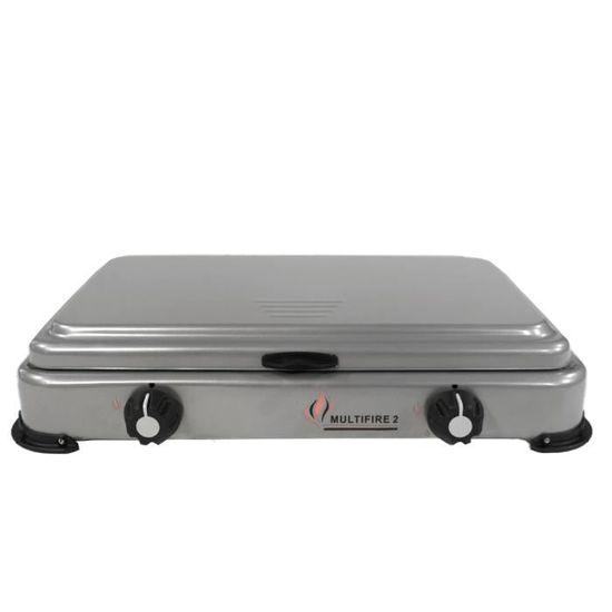 Plaque de cuisson gaz portable 2 feux 3200 W SILVER 2 butane-propane Gris  aluminium couvercle - Prix pas cher - Cdiscount 02da9fce7c9d