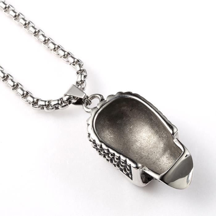 X-DRAGON® Hip Hop Chaîne Collier Plaqué Argent Skull Pendentif Bijoux