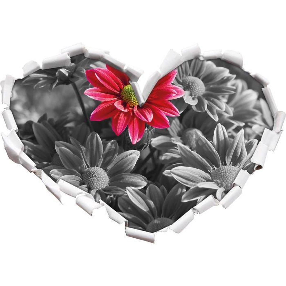 beau noir en forme de bouquet chrysanthème / blanc coeur dans le