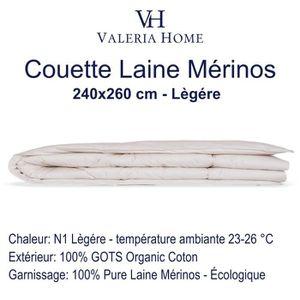 COUETTE Couette en pure laine Merinos et enveloppée Bio Co