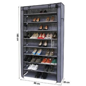 meuble chaussures armoire tagres chaussures 10 couches avec ho