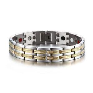 BRACELET - GOURMETTE KING Bijoux Bracelet homme - Acier au titane Quatr