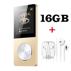 LECTEUR MP3 FULOZO Lecteur MP3-MP4 16GO Baladeur Multi-fonctio