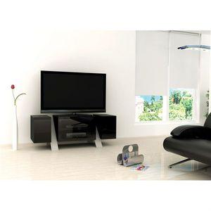 MEUBLE TV ARTUN Meuble TV Design laqué Noir 120cm