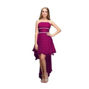 Robe de soiree pourpre - Achat   Vente pas cher 7baadfdc340