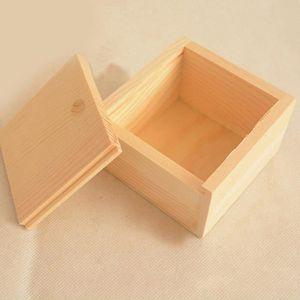 BOITE A BIJOUX Petite boîte de rangement de bijoux en bois vintag